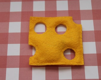 Cat Toy, Organic Catnip, Slice of Cheddar Toy