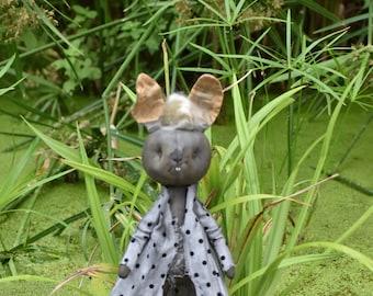 Bunny Soft sculpture doll fantasy art Monster Art doll cloth Art doll vintage Style