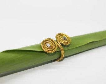 Golden Grass Ring #jewellery #ecojewellery