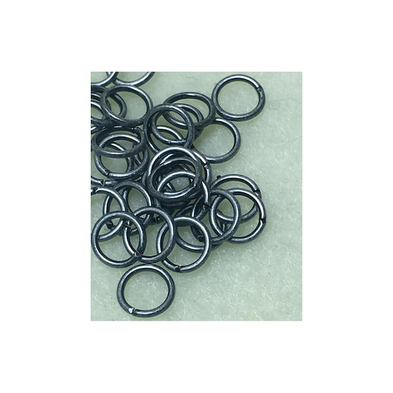 21-Gauge 6mm Antique Silver Plated Unsoldered Split 0.7mm Brass Jump Rings Qu 2/10/20