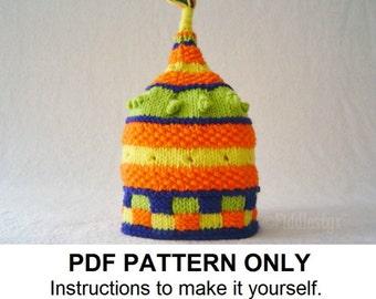 Hat Knitting Pattern - Birthday Hat Pattern - the BARNUM Hat (Newborn, Baby, Toddler, Child & Adult sizes incl'd)
