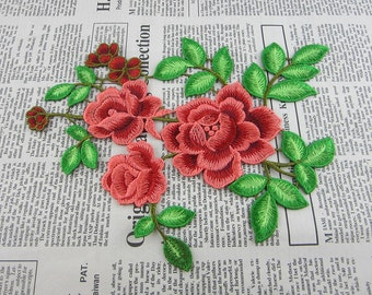 Embroidered Flowers Appliques