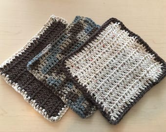Dishcloths, set of 3 - Ready to Ship