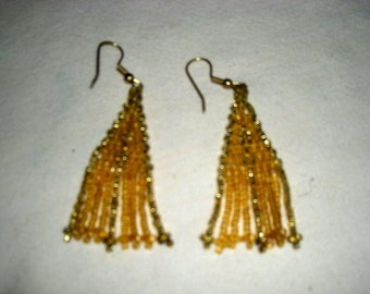 Goldtone Seed Bead Earrings