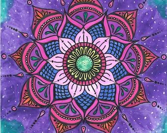 Watercolor Mandala Print