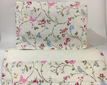 Clarke & Clarke Bird Trail Fabric Sewing Machine Cover/Dust Cover and Matching Mat/Table Protector