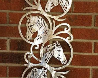 Horse Profile and Scrollwork Wall Art