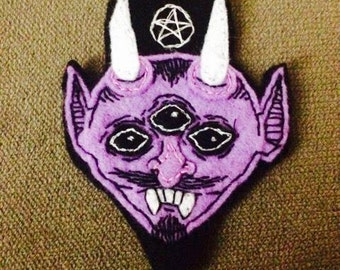 Lil Devil Hand-Embroidered Patch