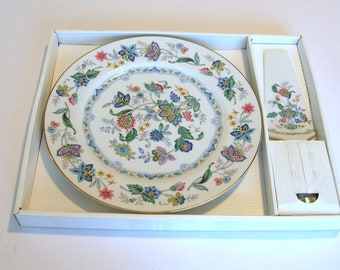 China Cake Plate with Matching Server, Andrea by Sadek