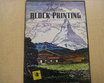 Linoleum Block Printing How-To Book, 1950's