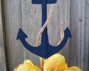 Nautical baby shower, nautical cake topper, nautical baby, nautical first birthday, burlap cake topper, nautical wedding, nautical birthday
