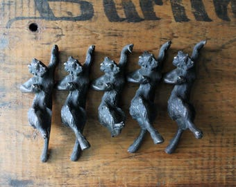 Antique Bronze Satyrs, Satyr Figures, Devils, Gilded Age, Decorative Arts, Satyr Statues, Mythological Beasts, Myths and Legends