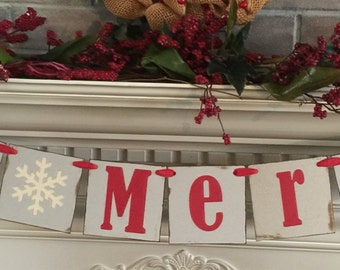 Christmas Banner, Be Merry Banner, Holiday Banner