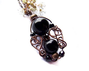 Black Ivy Tutorial, Wire Wrapping Jewelry Tutorial, Gothic Pendant Tutorial, DIY, Jewelry Pattern - Tutorial 39