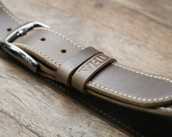 Mens Leather Belt, The Manly Man's Belt, Strong, Rustic, Built to Last #091