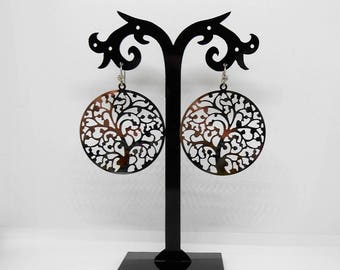 Tree of life earrings stainless steel