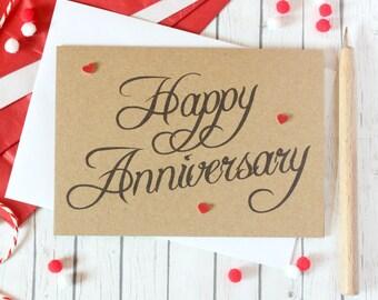 Handmade Anniversary Card. Anniversary Card. Anniversary Cards. Husband Card. Wife Card. Anniversary card for Wife. Husband Anniversary card