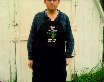 Yoda - Star Wars Cooking Apron - Embroidered - Grill or Grill Not There Is No Fry  Custom Men's Apron - Father's Day Gift Star Wars Grilling