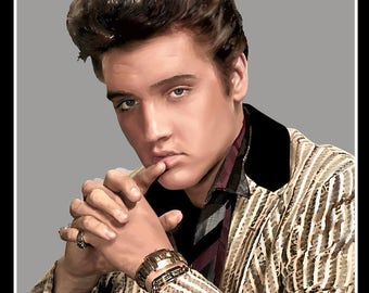 Portrait of Elvis
