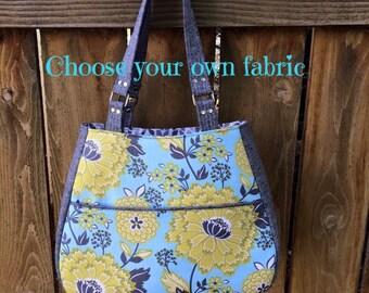 Large teardrop purse   Custom handbag   Shoulder purse   Made to order   Swoon Ethel   Medium purse   Structured bag   Gifts for her  