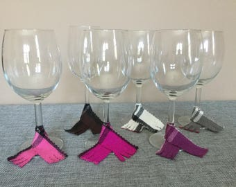 Scarf Wine Charms - Set of 6