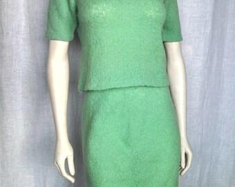 Vintage 60's Lime Sorbet Wiggle Suit