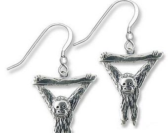 Sterling Silver Orangutan Earrings