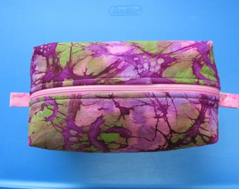 Travel Bag with Zipper - PURPLE/PINK/GREEN