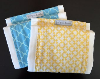 Blue Tile Print Burp Cloth