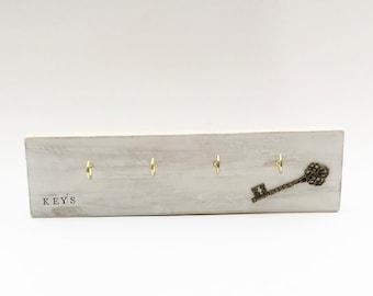 Pallet Wood Key Holder for Wall, Key Hanger, Wooden Key Rack, Wall Key Hook, Hallway Organiser, Key Storage, Wall Key Holder, Key Organiser