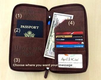 Travel wallet organizer,  leather passport wallet, passport holder, travel wallet, personalized travel wallet passport cover, passport 7505