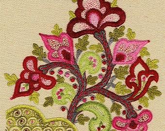 "Talliaferro's ""Kashan"" crewel embroidery pattern"