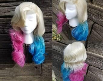 Lacefront HarleQuin Costume Wig