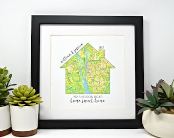 House warming Gift, New Home Gift, New Homeowner, Going Away Gift, New Home Decoration, Personalized Home Decor, Moving Gift, Relocating