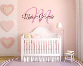 Personalized Name Wall Decal, Name Wall Decal, Baby Nursery Decal, Nursery Name Decal, Monogram Decal, Girl Name Decal, Monogram - WD0108