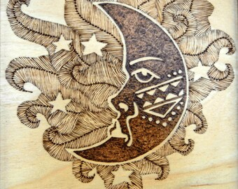 Handmade Wood Burning Art Wall Decor. Gift for Mother's Day, Fathers Day and Birthday