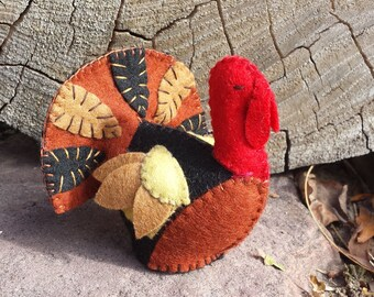 Felt Turkey,ETSY Gift, Turkey, Felt Animals