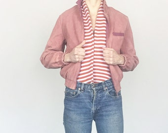 70s Dusty Pink Corduroy Reversible Jacket (S/M)