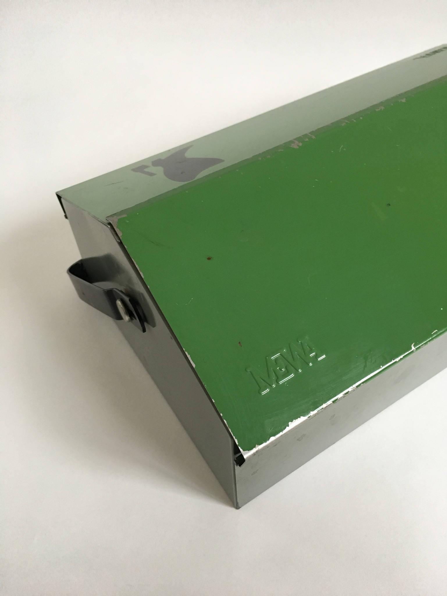 mewa wilhelm kienzle green outil metal box, chaussure boîte boîte