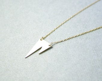 Gold fang necklace - small brass cut fang on gold filled chain - minimal jewelry