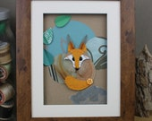 Fox Framed Wall Art, Mixe...