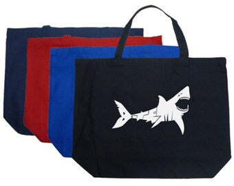 Large Tote Bag - Created out of the words Bite Me