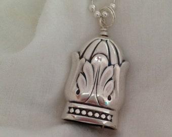 Knife Bell Pendant Danish Princess 1938 Vintage Knife Silverware Jewelry
