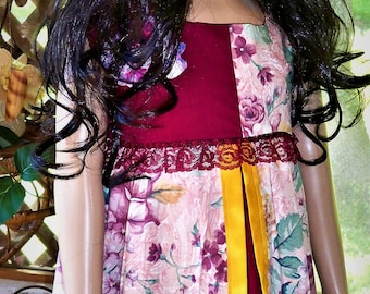 Maroon flower dress