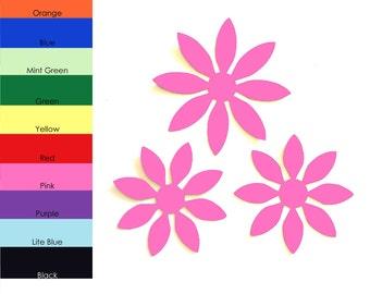25 pack - Flower Paper Cut Out, Paper Flower, Flower Embellishments, Flower Paper Shapes