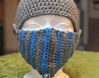 Crochet Men's Knight Helmet, Crochet Boy's Knight Helmet, Crochet Knight Helmet, Knight Helmet, Handmade Knight Helmet