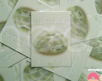 melonpan donut postcard 5x7 print