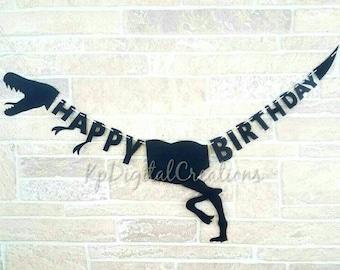 Dinosaur banner, Dinosaur birthday banner, Jurassic park birthday, Dinosaur party, Dinosaur birthday, Jurassic Park, Dinosaur decor