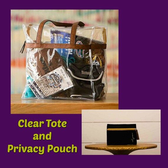 Be Game Day and Concert Ready--Clear Tote with Privacy Pouch