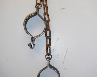Dungeon cuffs with chain